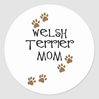 Welsh Terrier Mom for Welsh Terrier Dog Moms Stickers