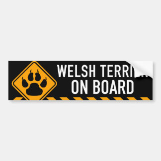 Welsh Terrier On Board Bumper Sticker