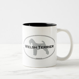 Welsh Terrier Oval Two-Tone Coffee Mug