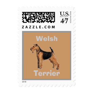 Welsh Terrier Postage Stamp for Letters
