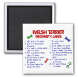 WELSH TERRIER Property Laws 2 Magnets