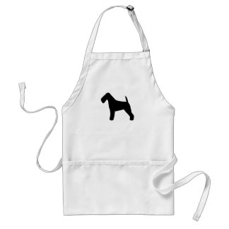 Welsh Terrier Silhouette Adult Apron