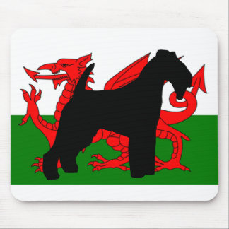 welsh terrier silhouette wales flag.png mouse pad