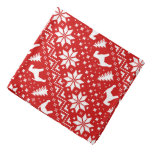 Welsh Terrier Silhouettes Christmas Pattern Red Bandana