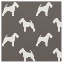 Welsh Terrier Silhouettes Pattern Fabric