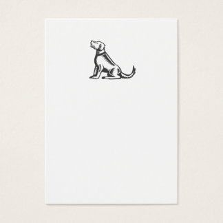 Welsh Terrier Sitting Woodcut Business Card