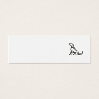 Welsh Terrier Sitting Woodcut Mini Business Card