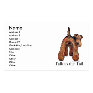 Welsh Terrier Tail Business Card
