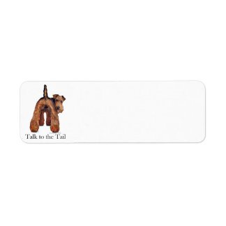 Welsh Terrier Tail Label