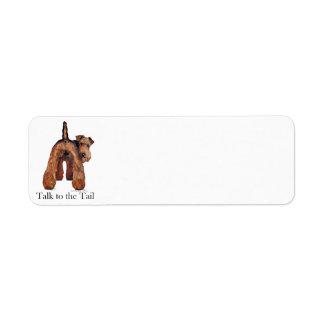 Welsh Terrier Tail Return Address Label