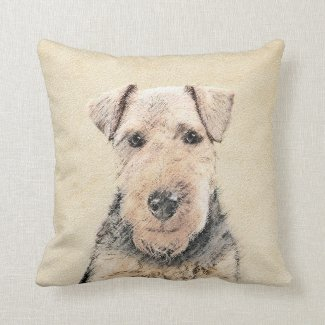 Welsh Terrier Throw Pillow