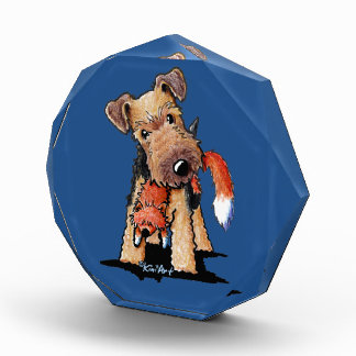 Welsh Terrier With Toy Fox Acrylic Award