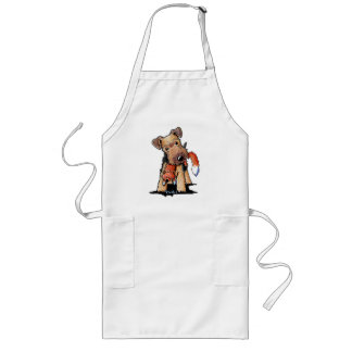 Welsh Terrier With Toy Fox Long Apron