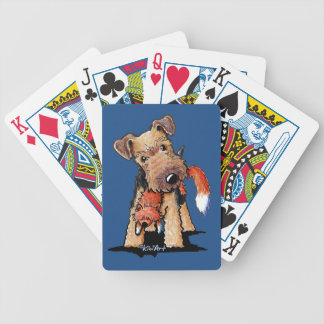 Welsh Terrier With Toy Fox Bicycle Playing Cards