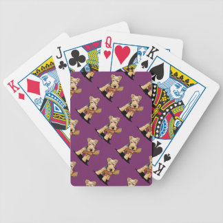 Welsh Terrier With Toy Squirrel Bicycle Playing Cards