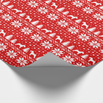 Welsh Terriers Christmas Sweater Pattern Wrapping Paper