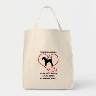 Welsh Terriers Must Be Loved Tote Bag