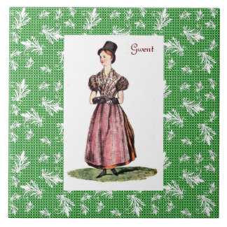 Welsh Traditional Costume - Gwent Ceramic Tile