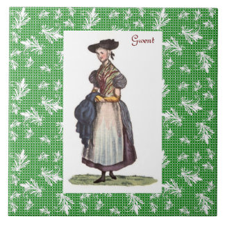 Welsh Traditional Costume - Gwent Tile