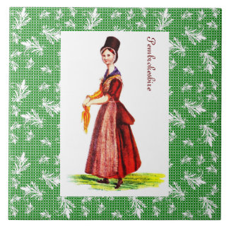 Welsh Traditional Costume - Pembrokeshire Ceramic Tile