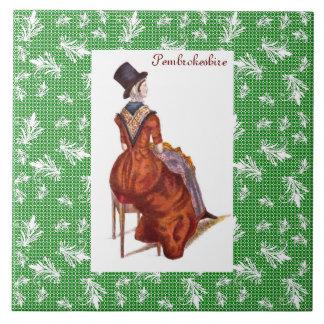 Welsh Traditional Costume - Pembrokeshire Ceramic Tile