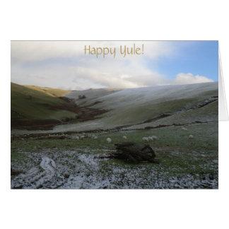 Welsh Winter Yuletide Blessings Card
