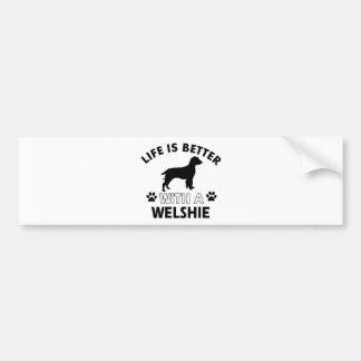 Welshie dog breed designs bumper sticker