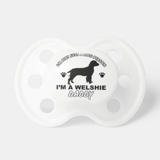 Welshie dog daddy designs baby pacifier