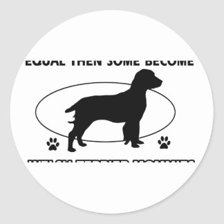 Welshie Mommy Design Classic Round Sticker
