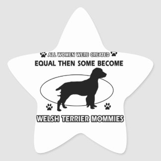 Welshie Mommy Design Star Sticker
