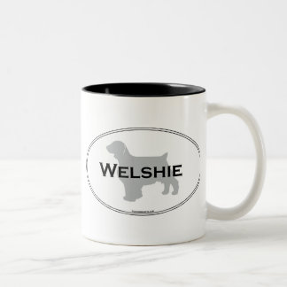 Welshie Oval Two-Tone Coffee Mug