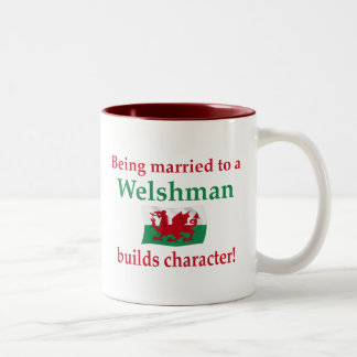 Welshman Builds Character Two-Tone Coffee Mug