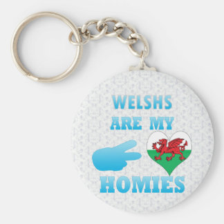 Welshs are my Homies Basic Round Button Keychain