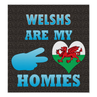 Welshs are my Homies Poster