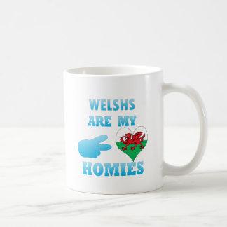 Welshs es mi Homies Taza Básica Blanca
