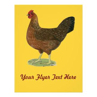 Welsummer Hen Personalized Flyer