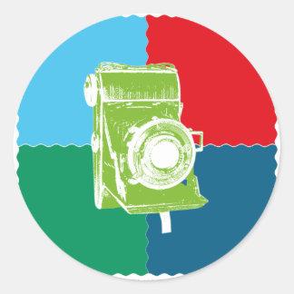 Welta Weltur camera Classic Round Sticker