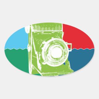 Welta Weltur camera Oval Sticker