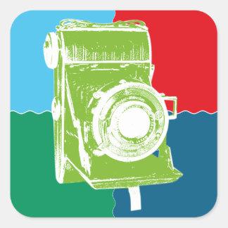 Welta Weltur camera Square Sticker