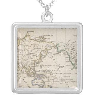 Weltcharte Square Pendant Necklace