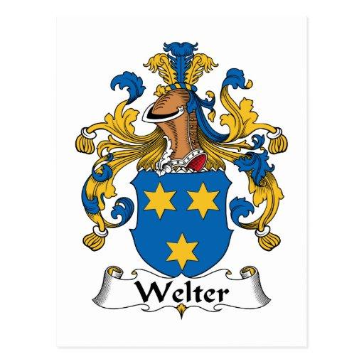 Welter el escudo de la familia postal