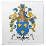 Welter el escudo de la familia servilleta