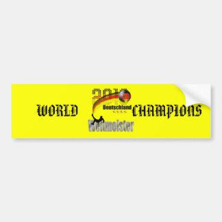 Weltmeister 2014 de Deutschland Pegatina Para Auto