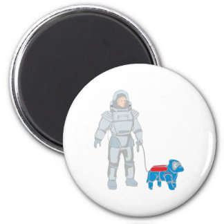Weltraum Gassi space walking the dog Magnete
