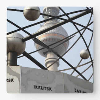 Weltzeituhr Fernsehturm Berlín Reloj Cuadrado