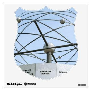 Weltzeituhr Wall Sticker