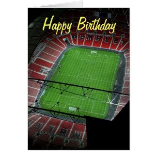 Wembley Stadium del feliz cumpleaños Tarjeta De Felicitación