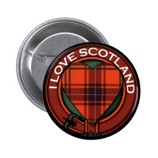 Wemyss Heart Tartan design - I love Scotland 2 Inch Round Button