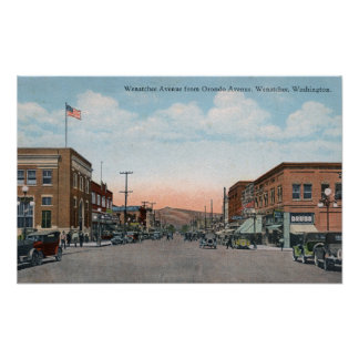Wenatchee Ave View from Orondo Ave Poster