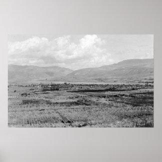 Wenatchee WA Town View and Orchard Photograph Print